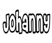 Johanny dessin à colorier