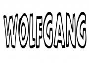 Coloriage Wolfgang