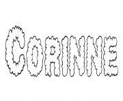 Corinne dessin à colorier