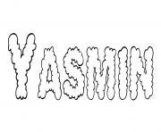 Yasmin dessin à colorier