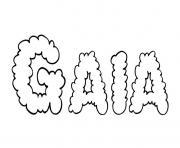 Gaia dessin à colorier