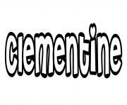 Clementine dessin à colorier