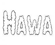 Hawa dessin à colorier