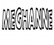 Meghanne dessin à colorier