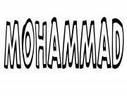 Mohammad dessin à colorier