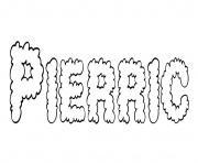 Pierric dessin à colorier