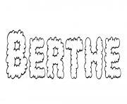 Berthe dessin à colorier