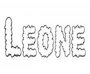 Leone dessin à colorier