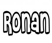 Ronan dessin à colorier