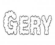 Coloriage Gery