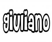 Giuliano dessin à colorier