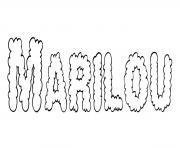 Marilou dessin à colorier