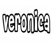 Veronica dessin à colorier