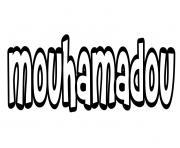 Mouhamadou dessin à colorier