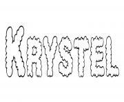 Krystel dessin à colorier