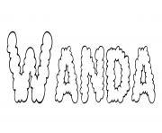 Wanda dessin à colorier
