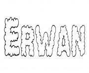 Erwan dessin à colorier