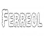 Coloriage Ferreol