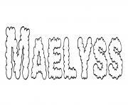 Maelyss dessin à colorier