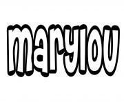 Marylou dessin à colorier