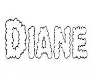 Diane dessin à colorier