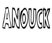 Anouck dessin à colorier