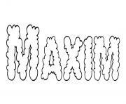 Maxim dessin à colorier