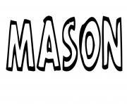 Mason dessin à colorier