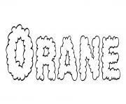 Orane dessin à colorier
