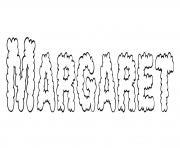 Margaret dessin à colorier