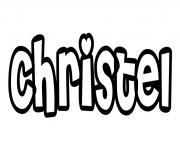 Christel dessin à colorier
