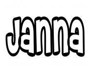 Janna dessin à colorier