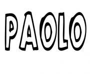 Paolo dessin à colorier
