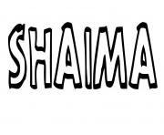 Shaima dessin à colorier