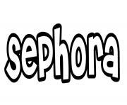 Sephora dessin à colorier