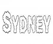 Sydney dessin à colorier