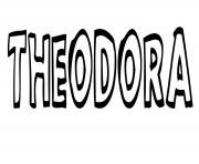 Theodora dessin à colorier