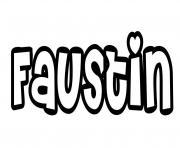 Faustin dessin à colorier
