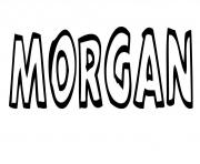 Coloriage Morgan