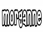 Morganne dessin à colorier