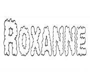 Roxanne dessin à colorier