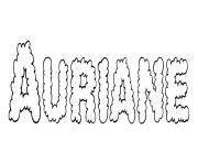 Auriane dessin à colorier