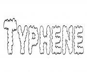 Typhene dessin à colorier