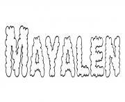 Mayalen dessin à colorier