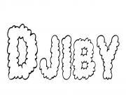 Djiby dessin à colorier