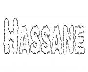 Hassane dessin à colorier