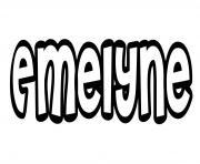 Emelyne dessin à colorier