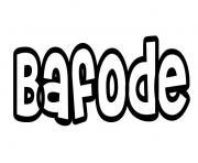 Bafode dessin à colorier