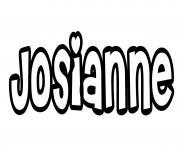 Josianne dessin à colorier