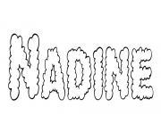 Nadine dessin à colorier